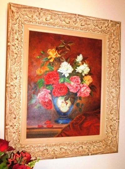FR. OIL ON BOARD STILL LIFE (Roses), SIGNED S. CARRINGTON-50