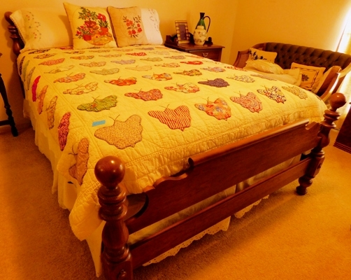 HAND MADE QUILT + BR FURNITURE