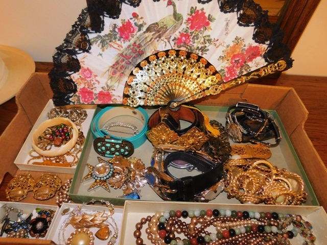 COSTUME JEWELRY + HAND FAN