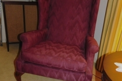 LR- Burgundy Arm Chair