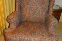LR arm chair - paisley uphol