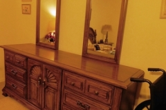 THOMASVILLE DRESSER, 2 ATTACHED MIRROR